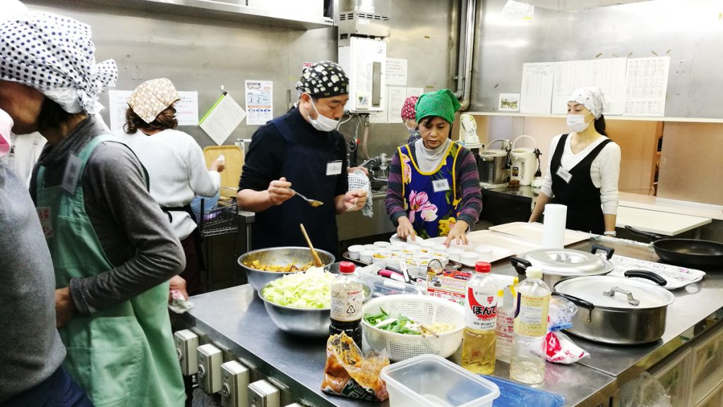 芋煮フェスティバル厨房